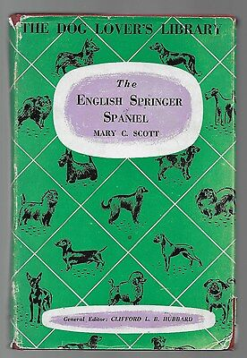 The English Springer Spaniel Rare Vintage Dog Breed Book Illustrated 1960