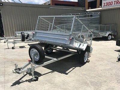 7x5 GALVANISED CAGE TRAILER | TILT FUNCTION | FULL CHECKER PLATE | ON SPECIAL!!