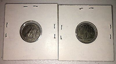 2 Canada Dimes 1977 and 1978 Canadian Coins