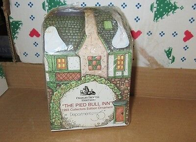 Dept. 56 Dickens Christmas Collectors Ornament Series 93 Pied Bull Inn Hotel Nib