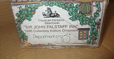 1995 Sir John Falstaff Inn Dept. 56 Charles Dickens Christmas Ornament 98701 Nib
