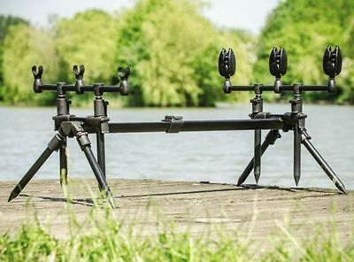Brand New Heavy Duty 3 Rod Pod With Carryall Bag For Carp / Pike / Cat Fishing