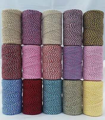 100m Bakers Twine Spool UK Made Many Colors Christmas Wedding Craft Cord String