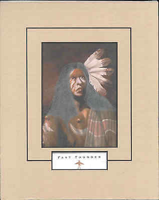 Fast Thunder - Matted, Native American, Art Print by J.D. Challenger