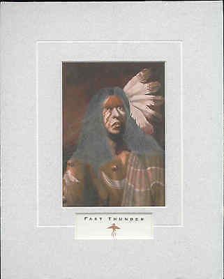 Fast Thunder - Open Edition, Native American, Art Print by J.D. Challenger