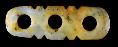Chinese Neolithic Style Three Hole Pendant