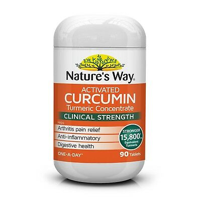 Nature's Way Activated Curcumin 90 Tablets Turmeric Concentrate 15800Mg