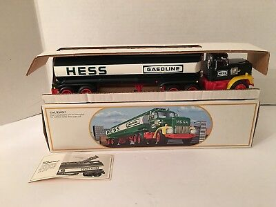 Vintage 1984 Hess Fuel Oil Tanker Toy Truck Bank MINT NEW IN BOX