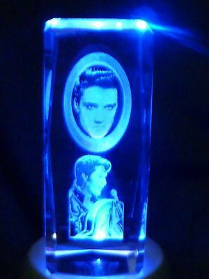Elvis Presley  3D Laser Etched Crystal or paper weight
