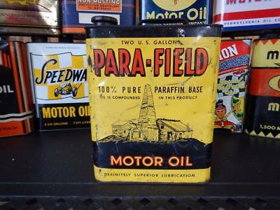 Original **rare** Para-Field  2 Gallon Motor Oil Can!