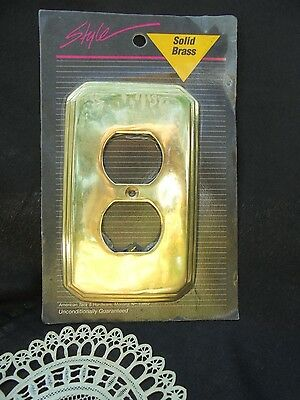 AMERICAN TACK, BRASS Cover, Outlet Plate, Vintage Decor, NEW