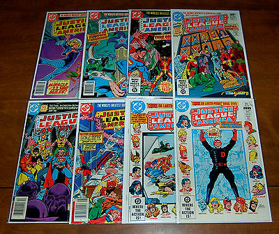 JUSTICE LEAGUE OF AMERICA Lot of 8 #188 189 192 195 197 205 207 209 FN- to VF/NM