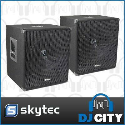 "Skytec PK-SWA15 15"" Powered Subwoofer Pair 1200W"
