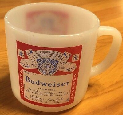 VINTAGE 60s 70s BUDWEISER BEER COFFEE CUP MUG HEAT PROOF USA 11 RARE