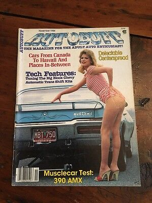 Vintage Autobuff Adult Mens Magazine Pin-Up November 1984Hot Rod Muscle Car #17