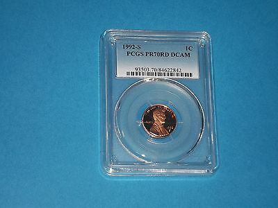 1992 S Lincoln Cent Pcgs Pr70Dcam Penny Coin