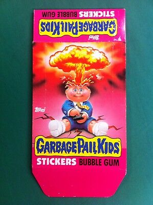 Vintage 1985 Topps Garbage Pail Kids GPK Series 1 OS1 Wax Pack Box Empty RARE