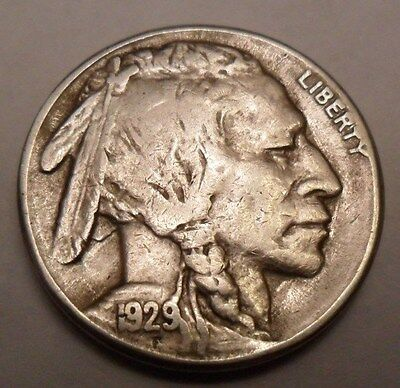 """1929 S Indian Head """"buffalo"""" Nickel   *xf - Extremely Fine*   **free Shipping**"""