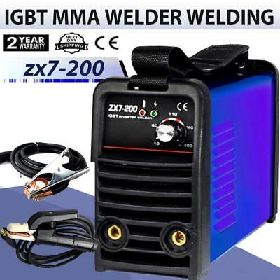 220V 200A IGBT INVERTER ARC Welder MMA Welding Machine & Welding Holder +Cable