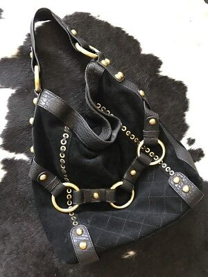 Estilo Emporio Leather And Suede Slouch Hobo Bag