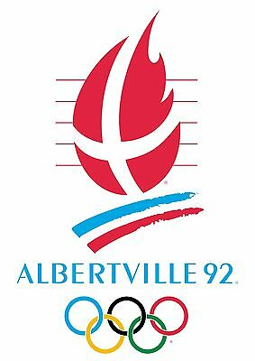 "1992 ALBERTVILLE Olympic Games Poster Giclee Print 24"" x 34"" Archival Paper"