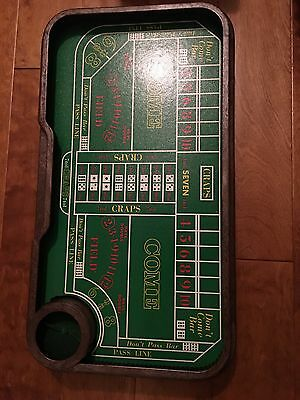 VIntage AUto-Shooter CRAPS TABLE Automatic Gaming Dice Game Gambling