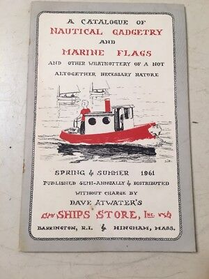 Vintage 1961 Dave Atwater's Ship Store Catalog Nautical Gadgetry Marine Flags