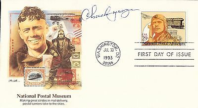 Chuck Yeager signed cover