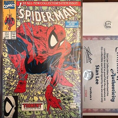 Amazing Spider-Man #1 Todd McFarlane Signed By Stan Lee W/ COA