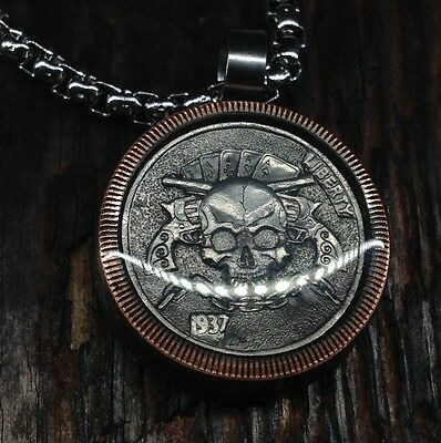 Hobo Nickel Necklace (with Chain)