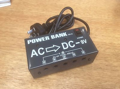 POWER BANK DC-9 AC>DC -9V Power bank 5 output jacks  Suitable ALL Effects Pedals
