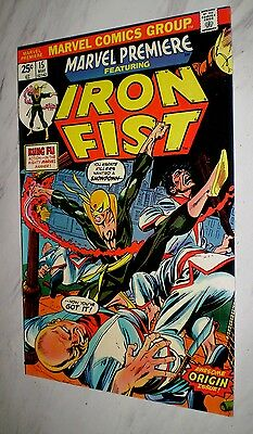 Marvel Premiere #15 NM 9.4 White pages Unrestored 1974 1st Iron Fist and origin