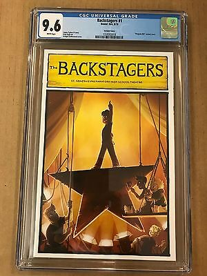 Backstagers #1 1:15 Hamilton Broadway Program Bill Variant Underwood Cgc 9.6