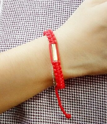 Sai Sin Buddha Bracelet Red Blessed By Buddhist Monk Luck & Protection Life Gold
