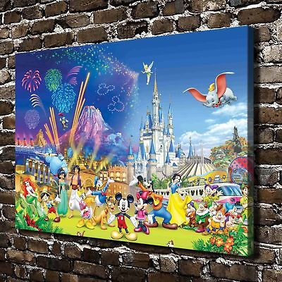 Disney Castle Paintings HD Print on Canvas Home room Decor Wall Art Pictures