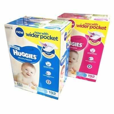 Huggies Ultra Dry Boy/Girls Nappies Infant 192 Disposable Size 4-8kg JUMBO PACK