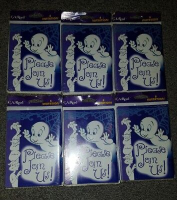 Vintage Lot of 48 New Casper The Friendly Ghost Invitations NEWFactory Sealed