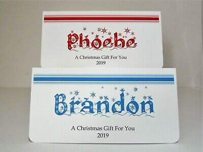 Christmas Money/Gift/Voucher Wallet Personalised All Names Available 2018