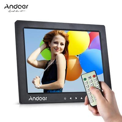 """Andoer 10"""" HD Digital Photo Frame Picture Clock MP3/4 Player+Remote Control T9I4"""