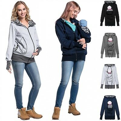 f2d8d08a529 Happy Mama. Women s Maternity Sweatshirt Hoodie Carrier Removable Insert.  430p