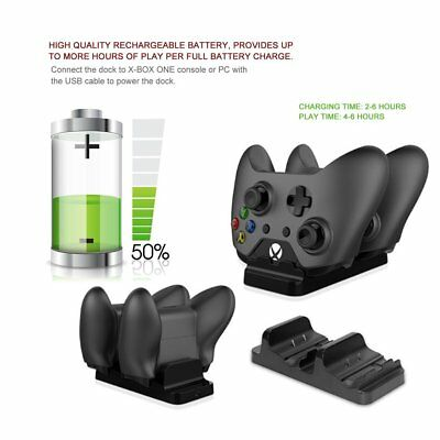 Dual Charging Dock Station + 2 Battery Kit For Xbox One Controller TYX-532S AU