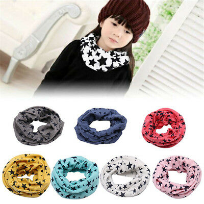 Children Baby Boys Girls Warm Collar Neck Scarf Kids Soft Cotton Scarves Wrap