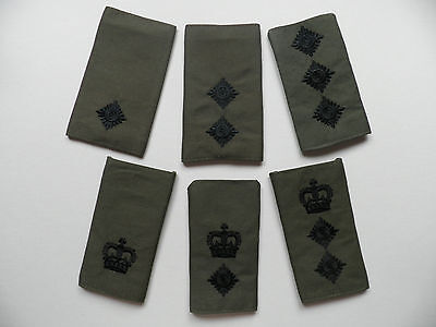Royal Marines / Army rank epaulette slides [pair] Officer ranks, new,  unissued.