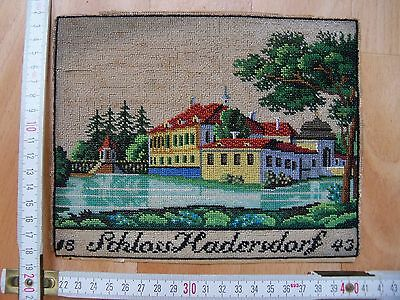 Picture made of old Czech beads. 1843
