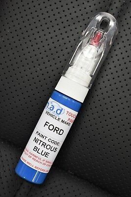 Ford Focus Rs Nitrous Blue Mk3 New Touch Up Pen Brush Repair Paint Chip Scratch