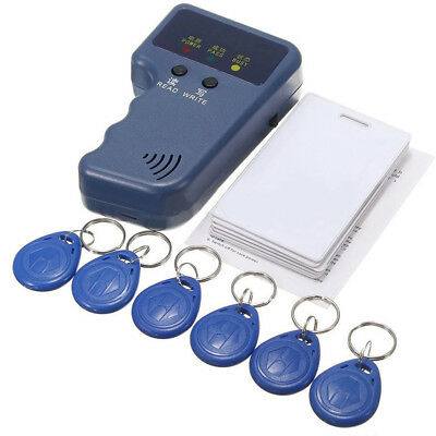 125KHz RFID Card ID Reader Writer Copier Duplicator W/Cards/Keychain Tags Kit