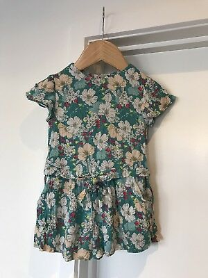 Baby Girl Jumpsuit ZARA Size 12-18 Months, Green Floral, Great Condition!