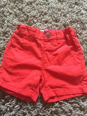 Next Boys Red Shorts Age 6-9 Months Bnwt