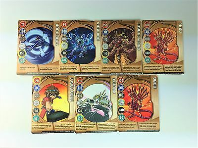 Bakugan Magnetic Cards - Lot of 7 mixed cards