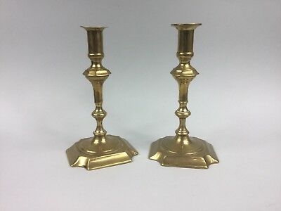 A Pair of 19th Century Brass Candle Sticks